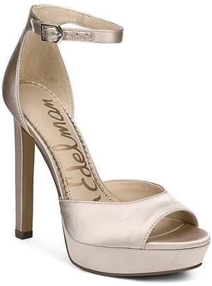 Sam Edelman Women's Wallace Satin Platform High-Heel Sandals