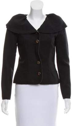 Oscar de la Renta Structured Wool Jacket