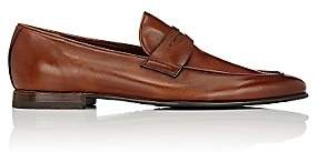 Barrett Men's Apron-Toe Penny Loafers - Dk. brown
