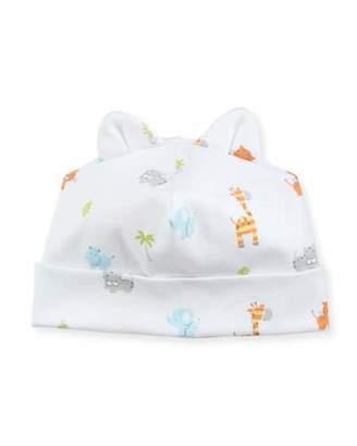 Kissy Kissy Safari Stroll Pima Baby Hat w/ Animal Ears