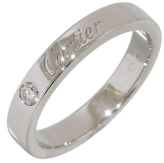Cartier 950 Platinum with 1P Diamond Wedding Band Ring Size 4