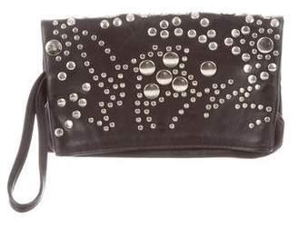 Sonia Rykiel Embellished Leather Clutch