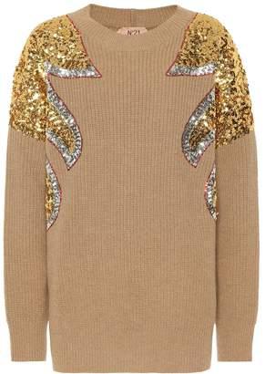 N°21 Sequined virgin wool sweater