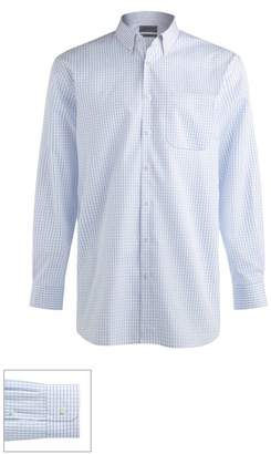 John W. Nordstrom R) Made to Measure Classic Fit Spread Collar Dobby Plaid Dress Shirt