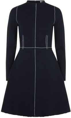 Sandro Contrast Stitch A-Line Dress