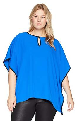 Calvin Klein Women's Plus Size Kaftan with Keyhole