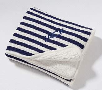 Pottery Barn Kids Emerson Baby Blanket, Slate Blue