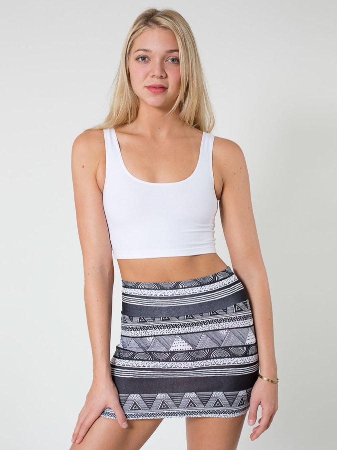 Afrika Print Cotton Spandex Jersey Mini Skirt