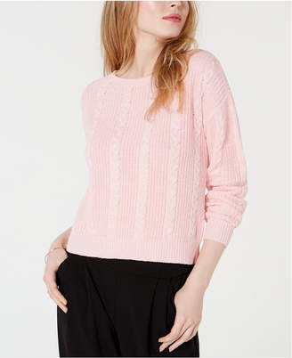 Maison Jules Cable-Knit Bow-Back Sweater