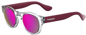 Havaianas Trancosom Clear Sunglasses w/ Rubber Arms