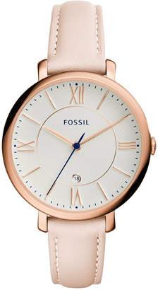 Fossil Women's Jacqueline Blush Leather Strap Watch 36mm ES3988 $115 thestylecure.com