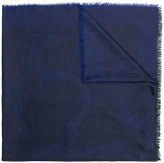 Salvatore Ferragamo logo printed shawl