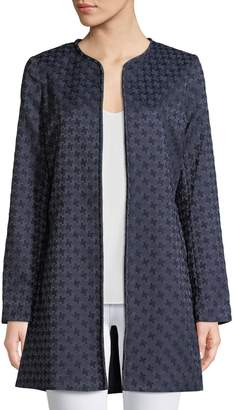 Karl Lagerfeld Paris Open-Front Jacquard Topper Jacket
