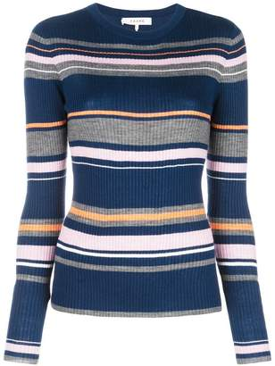 Frame striped knitted top