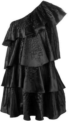 Blugirl asymmetric flared mini dress