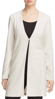 Eileen Fisher Silk Noil Long V-Neck Cardigan $238 thestylecure.com