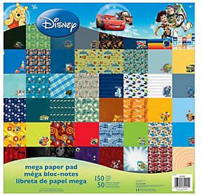 Disney Mega Paper Pad - Boy Designs