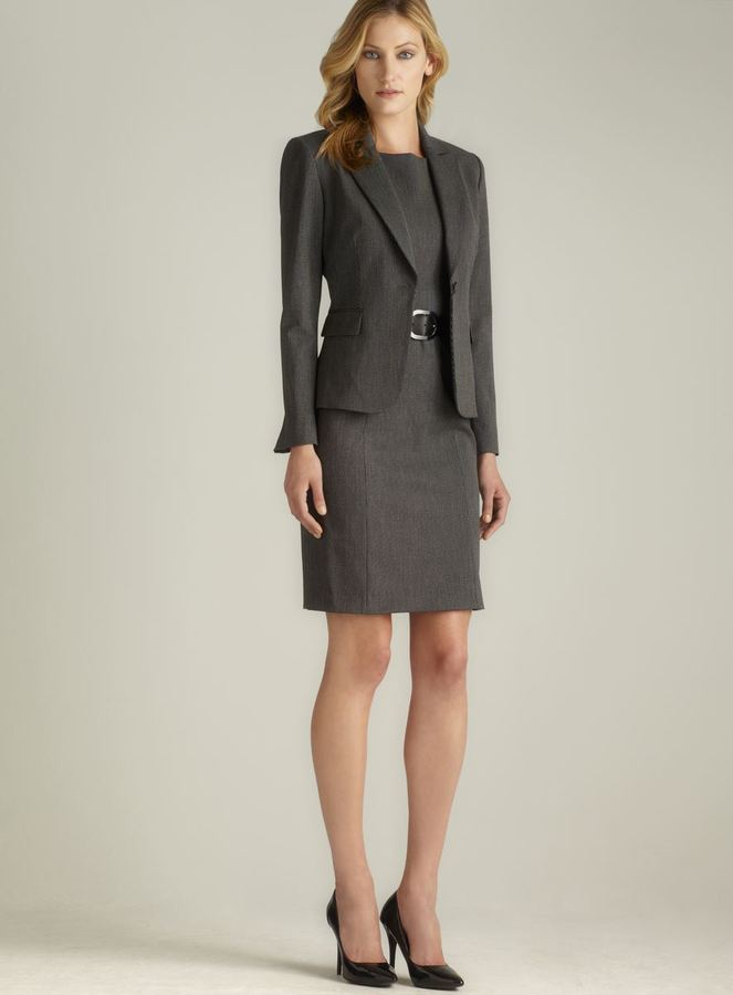 Tahari Belted One Button Dress Suit