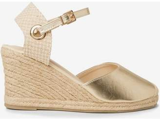 cc63a5608ff at Dorothy Perkins · Dorothy Perkins Womens Wide Fit Gold  Raven  Wedges
