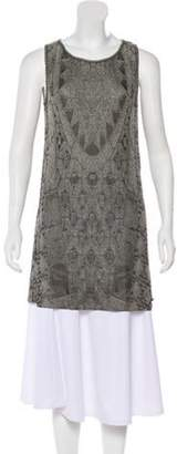 Chanel Sleeveless Tunic Top Gold Sleeveless Tunic Top