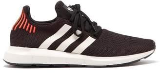 adidas Swift Run Knit Low Top Trainers - Mens - Black