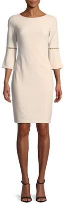 Calvin Klein Collection Beaded Cutout Ponte Sheath Dress