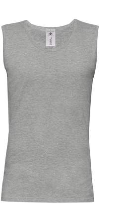 BC B&C Mens Move Sleeveless Athletic Sports Vest Top (L) (Sport Grey)