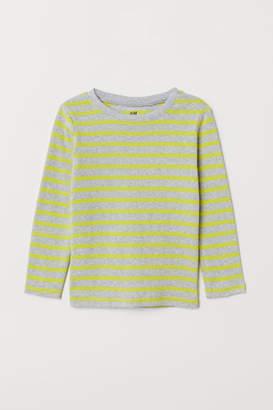 H&M Long-sleeved Jersey Shirt - Yellow