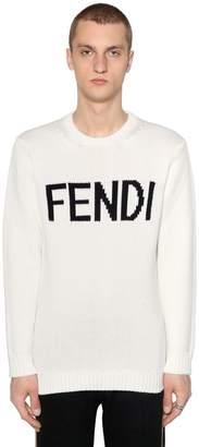 Fendi Logo Wool Intarsia Sweater