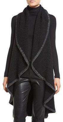 Alice + Olivia Quinn Cascading Circle Vest, Black $350 thestylecure.com