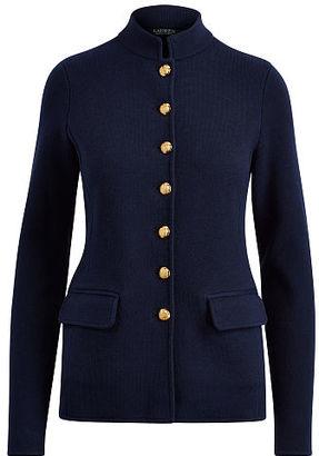 Ralph Lauren Lauren Stretch Cotton Military Jacket