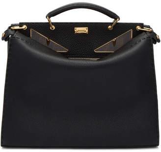 Fendi Black Regular Bag Bugs Peekaboo Briefcase