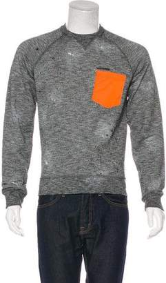 DSQUARED2 Paint Splatter Crew Neck Sweater