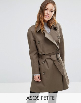 ASOS Petite ASOS PETITE Trench with Deep Storm Flap $98 thestylecure.com