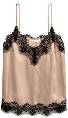 H&M Satin and Lace Camisole Top
