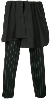 Juun.J layered pinstripe trousers