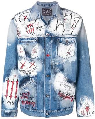 Mjb oversized painted denim jacket