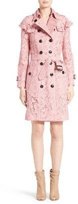 Women's Burberry Stanhill Ruffle Lace Trench Coat $2,995 thestylecure.com