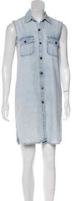 Current/Elliott Chambray Sleeveless Mini Dress