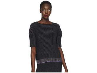 Paul Smith Lurex Stripe Knitted Top