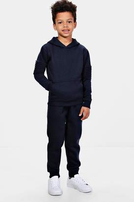 boohoo Boys Biker Detail Jogger Set