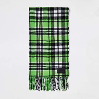 River Island Green check scarf
