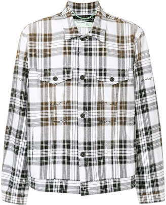 Off-White checked shirt jacket