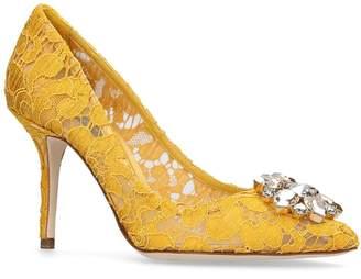 Dolce & Gabbana Lace Bellucci Embellished Pumps