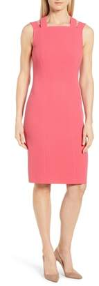 BOSS Daphima Compact Crepe Sheath Dress
