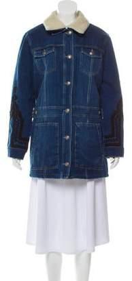 The Kooples Denim Button-Up Jacket