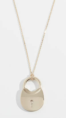 Tory Burch Surreal Lock Pendant Necklace
