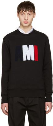 AMI Alexandre Mattiussi Black Logo Pullover $255 thestylecure.com