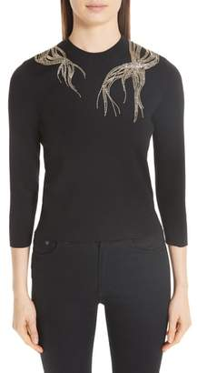Alexander McQueen Embellished Wool Sweater