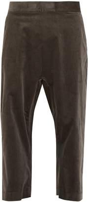 Haider Ackermann Wide-leg cropped velvet trousers